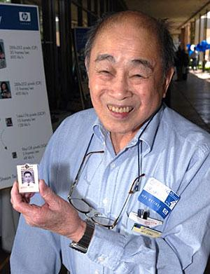 Art Fong with his HP Badge